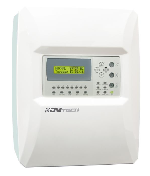 DMtech FP9000-8  LCD Göstergeli Konvansiyonel Yangın Algılama Paneli  - Resim 1